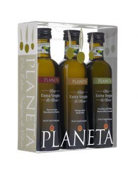 Coffret de 3 huiles d'olives 10cl AOC Val di Mazara (Sicile)