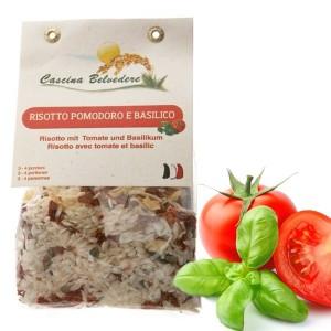 Risotto tomate & basilic Cascina Belvedere