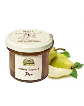 Moutarde artisanale aux fraises entières Agricola Senga 120 g