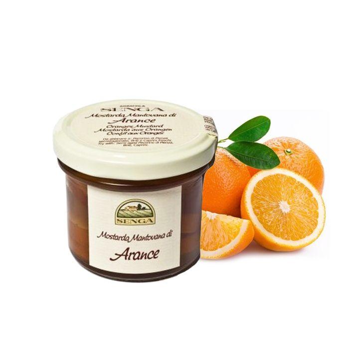 Moutarde de tranches entières d'orange Agricola Senga 120 g