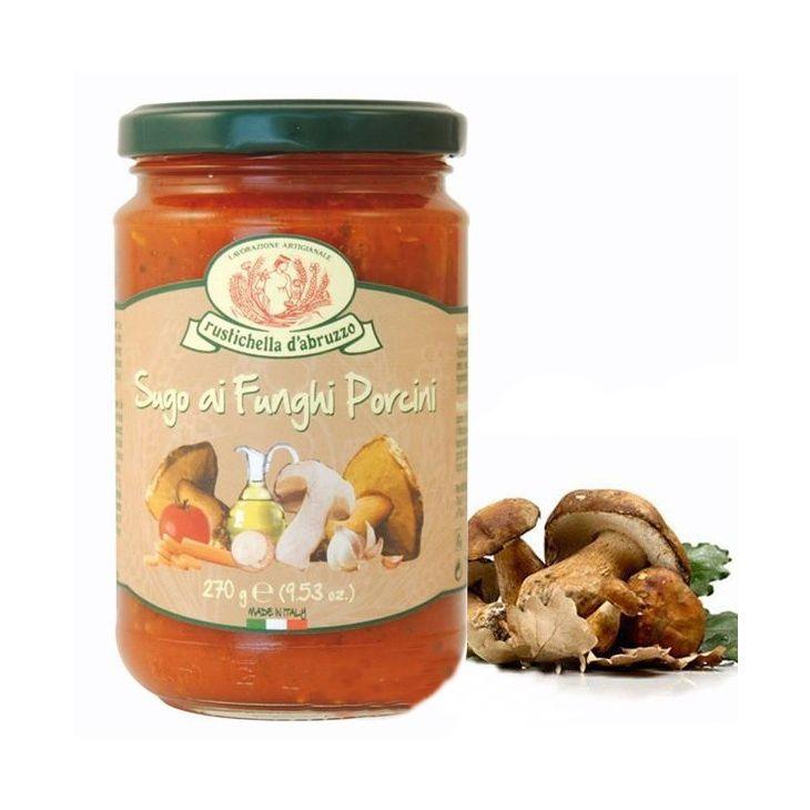 sauce aux c pes sugo con funghi porcini cuisine italienne rustichella. Black Bedroom Furniture Sets. Home Design Ideas