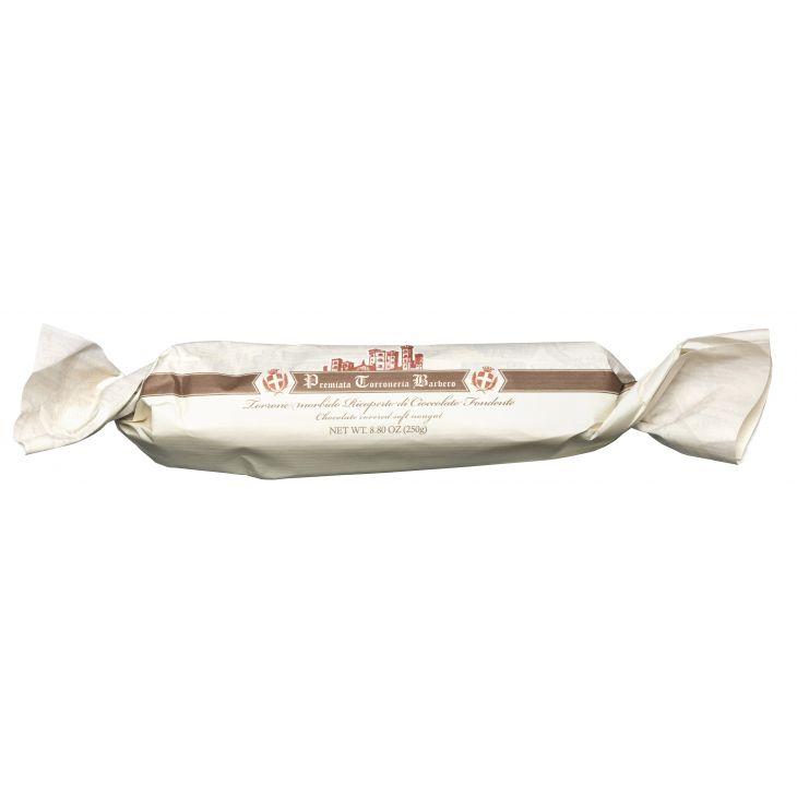 Nougat tendre aux noisettes enrobé de chocolat noir Barbero 250 g