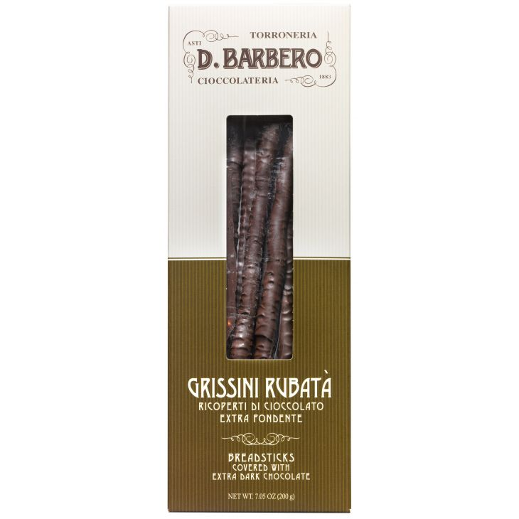 Gressins artisanaux au chocolat noir Barbero 200 g