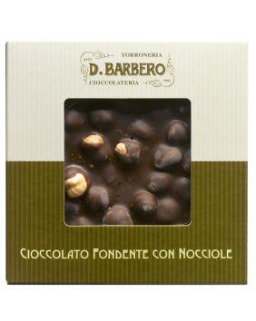 Tablette de chocolat noir fondant aux noisettes entières Barbero