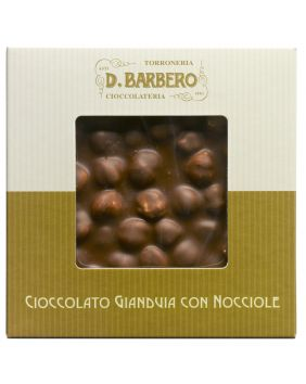 Tablette de chocolat gianduia aux noisettes entières Barbero