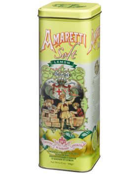 Amaretti tendres au citron en boite collector Lazzaroni