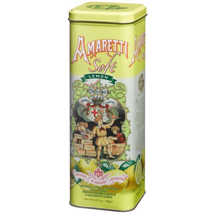 Amaretti tendres au citron en boite collector Lazzaroni