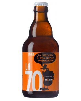 Bière artisanale ambrée de 33 cl La 70