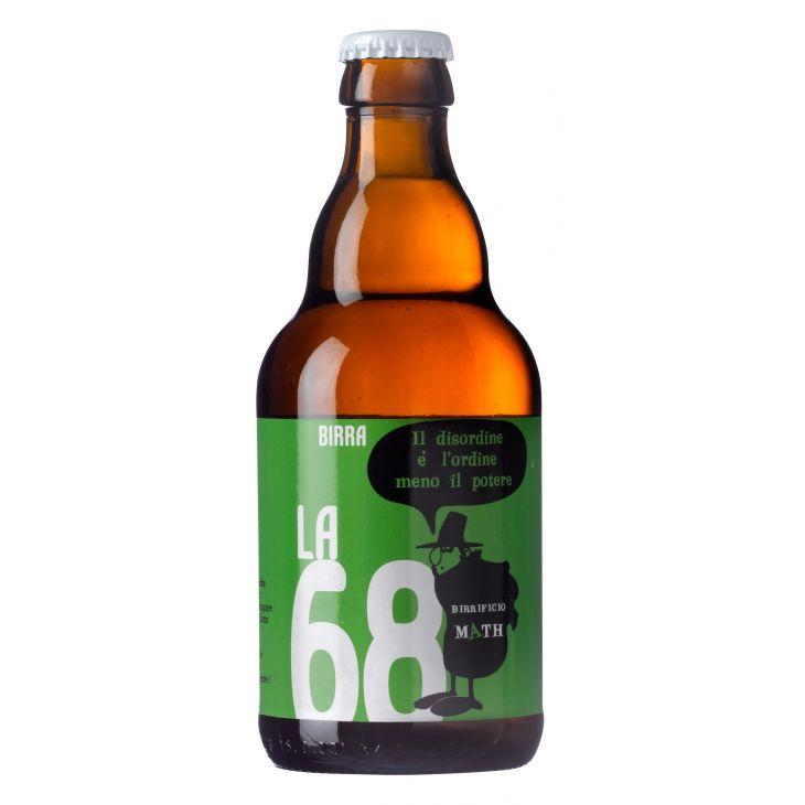 Bière artisanale ambrée de 33 cl La 68