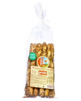 Gressins rustiques au lin, sésame et pavot Prato