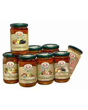 Assortiment de 6 sauces Rustichella