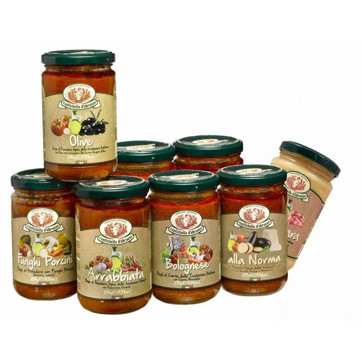 Assortiment de 6 sauces Rustichella