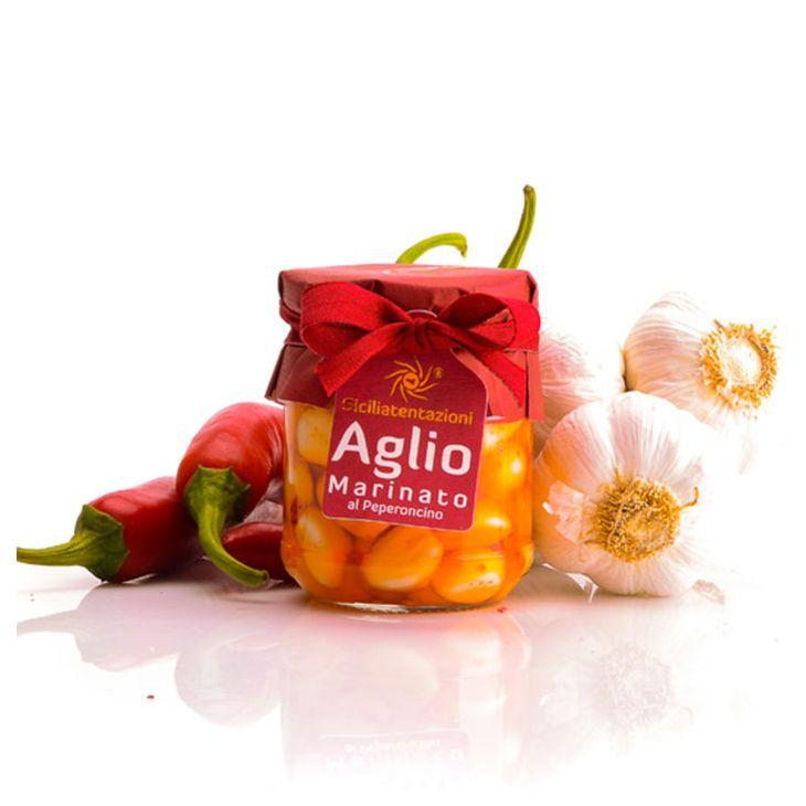 Ail mariné aux piments Sicilia Tentazioni 180 g
