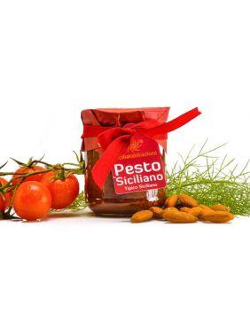 Pesto siciliano (fenouil, tomates et amandes)