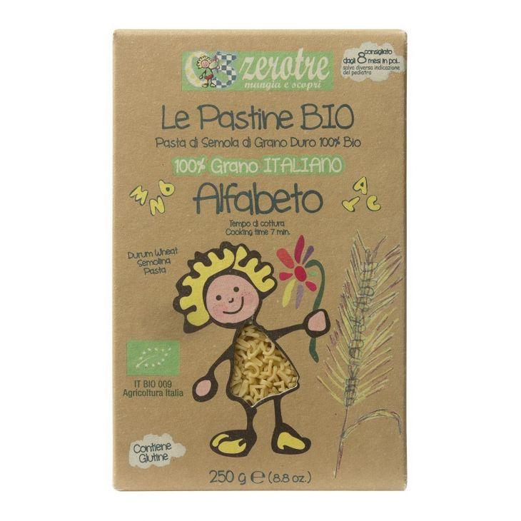 Pâtes alphabet à la semoule de blé dur Bio Rustichella