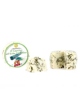 Petit fromage de chèvre à la ciboulette