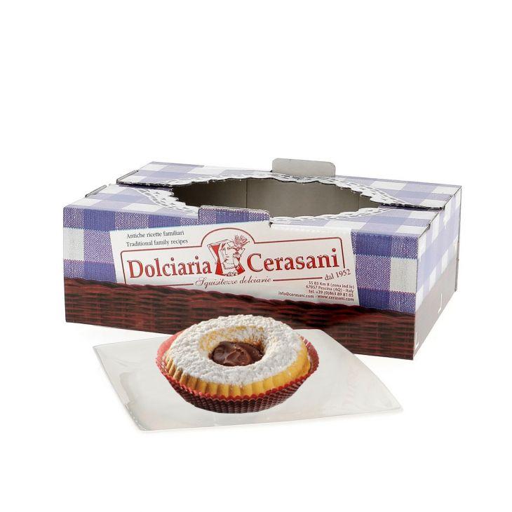 Tartelettes à la gianduja 500 g Cerasani