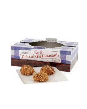 Bocconcini fourrées à la crème d'orange 500 g Cerasani