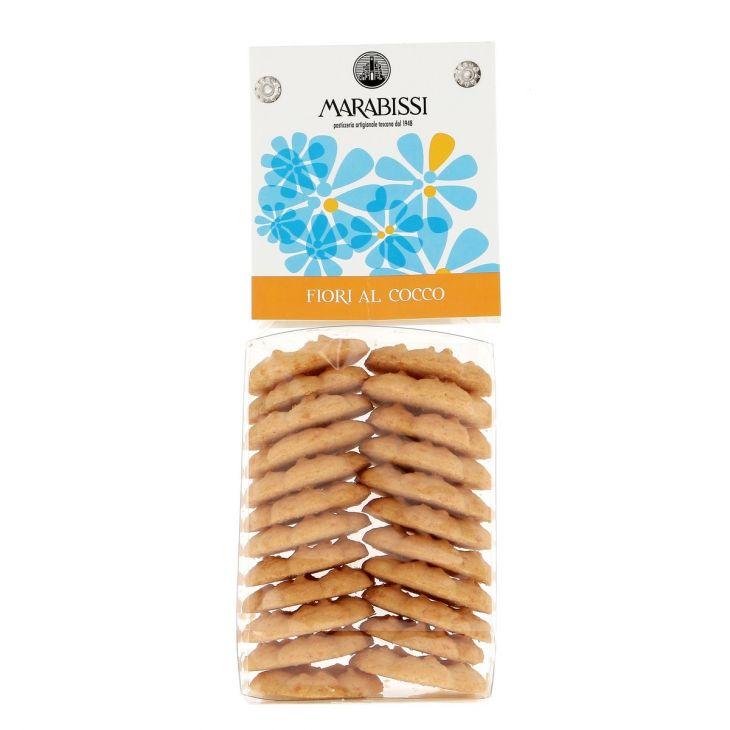 Biscuits fiori à la noix de coco Marabissi 130 g