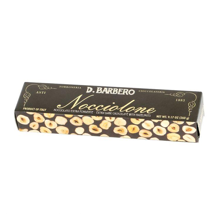 LINGOT CHOCOLAT AUX NOISETTES ENTIÈRES DU PIÉMONT BARBERO 26 Gr