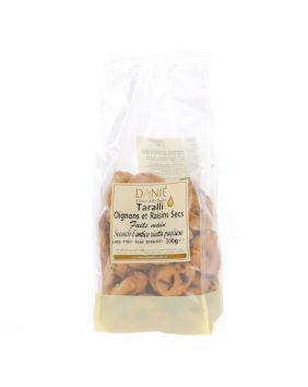 Taralli artisanaux oignons et raisins secs