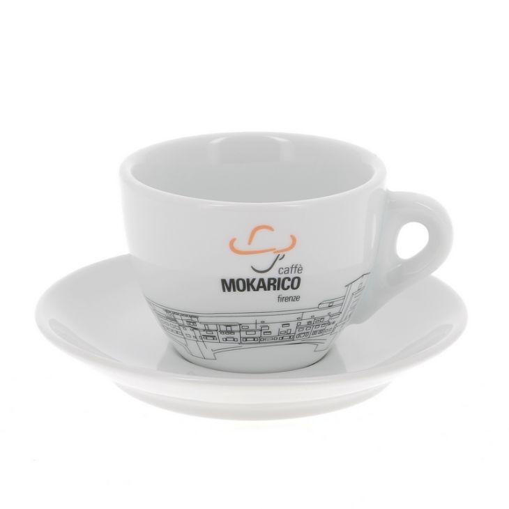 Set de 6 tasses à cappucino en porcelaine