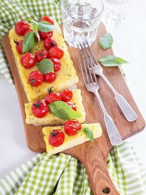 Gratin de polenta aux tomates cerise