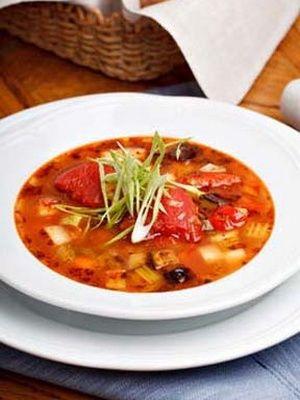 Minestrone légumes et pancetta