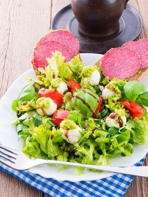 Salade aux cèpes et au salame del Nonno