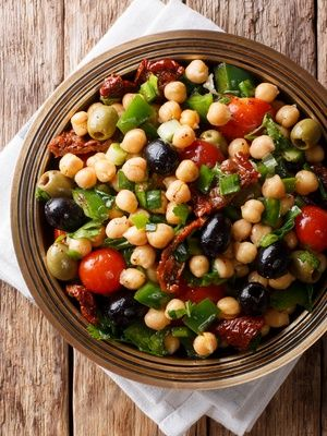 Salade de pois chiches aux olives