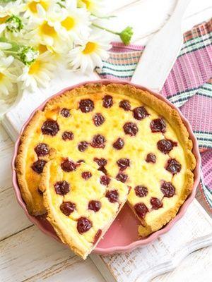 Gâteau de semoule et amarena